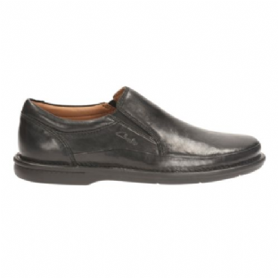 Clarks Mens Butleigh Free Black Leather Shoes
